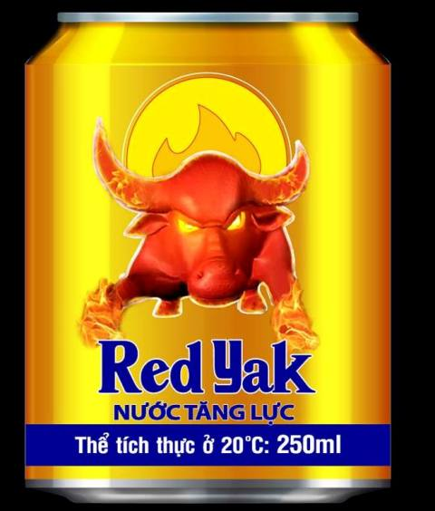 Red Yak Energy Drink 250ml x 24 can