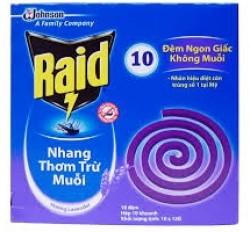 Mosquito coil Raid Lavender 10 crossed