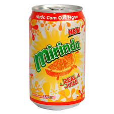 Mirinda orange 330ml x 24 can