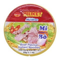 Miliket Instant Noodle Beef Flavour 65gr x 24 cup