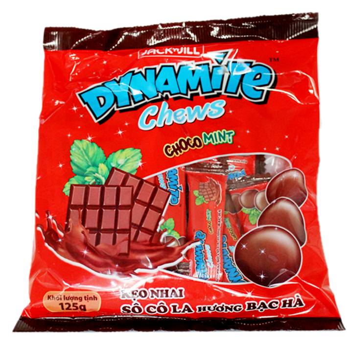 DYNAMITE CHEWS CHOCO MINT 125GR