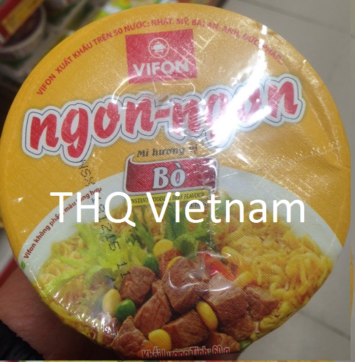 Vifon Ngon Ngon Instant Noodles Beef Flavour 60g (cup)
