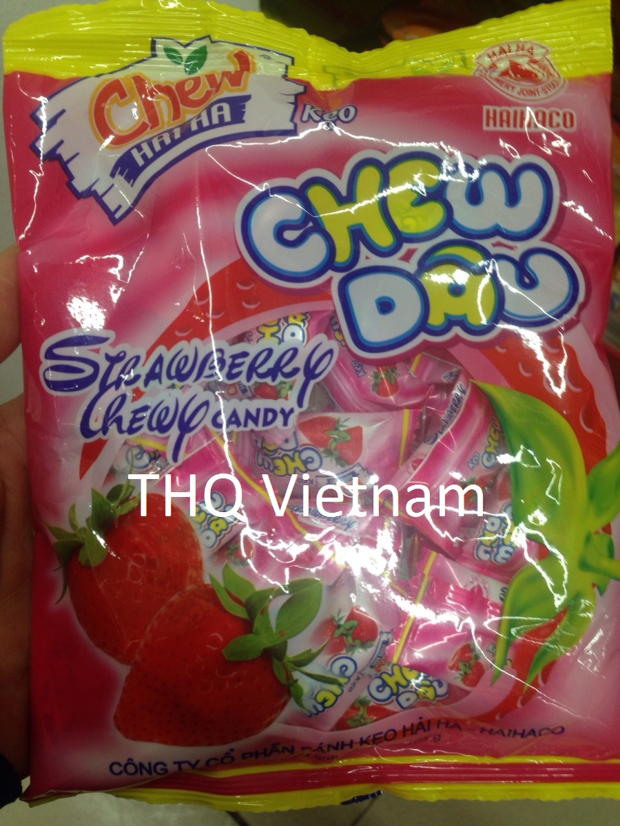 STRAWBERRY CHEWY CANDY 32PCS/PACK