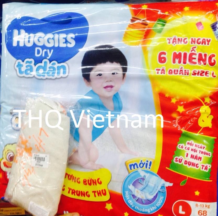 Huggies Dry Diaper L 68 pcs x 3 packs
