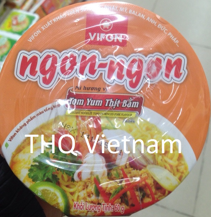 Vifon Ngon Ngon Instant Noodles Tomyum Minced Pork Flavour 60g (cup)