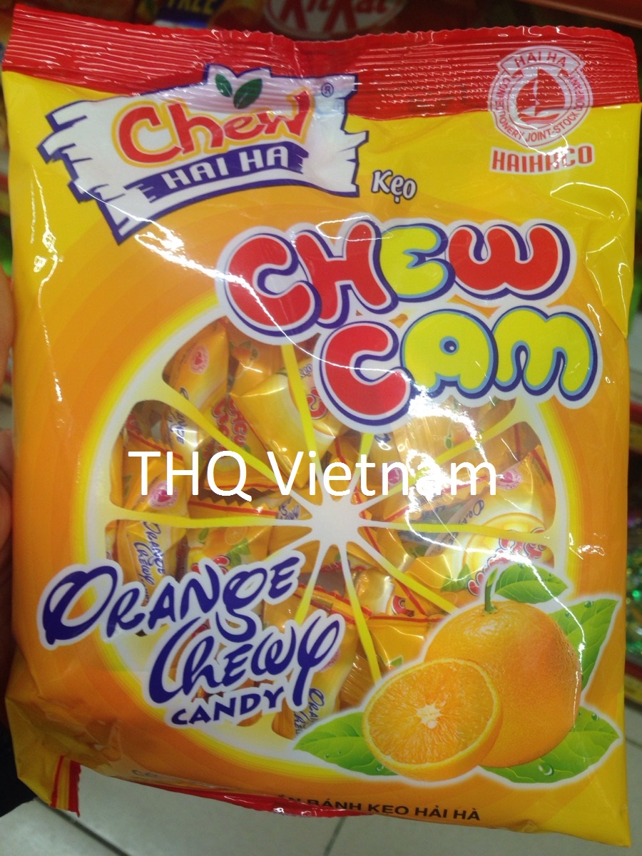 Orange chewy candy 30 pcs/pack