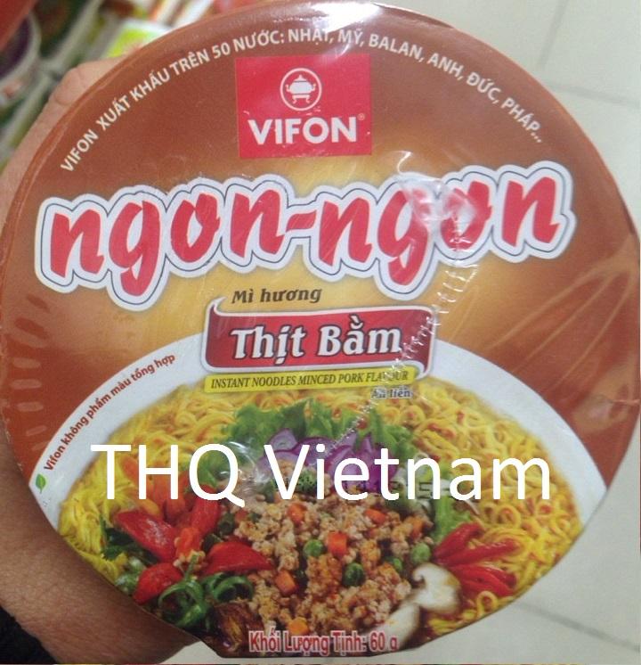 Vifon Ngon Ngon Instant Noodles Minced Pork Flavour 60g (cup)