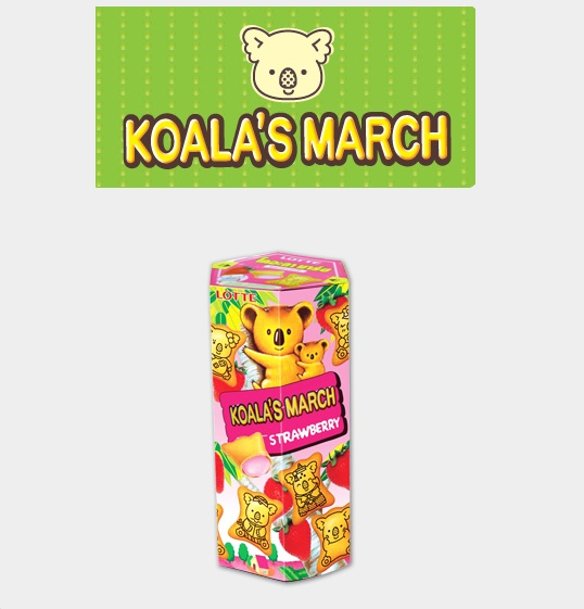 Lotte Biscuits KoaLa's March With Strawberry 37gr