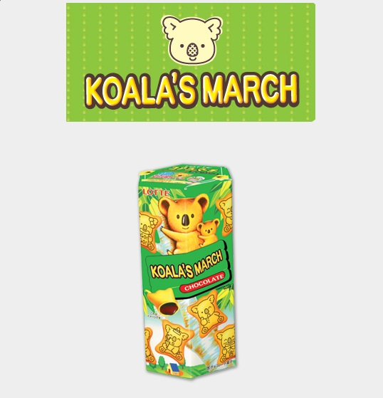 Lotte Biscuits KoaLa's March With Chocolate 37gr