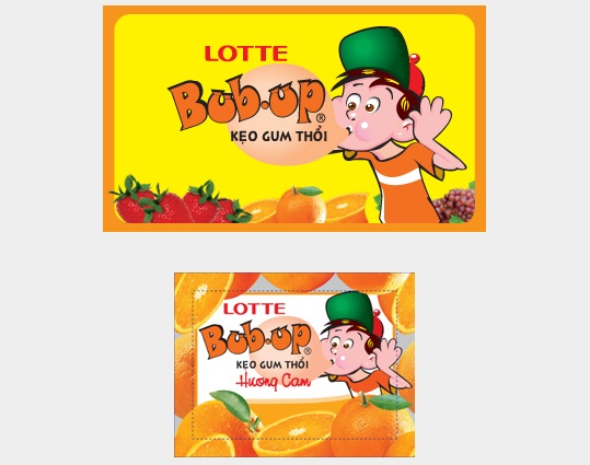 Lotte Bub Up Orange Chewing Gum 3.5g