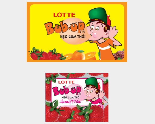Lotte Bub Up Strawberry Chewing Gum 3.5g