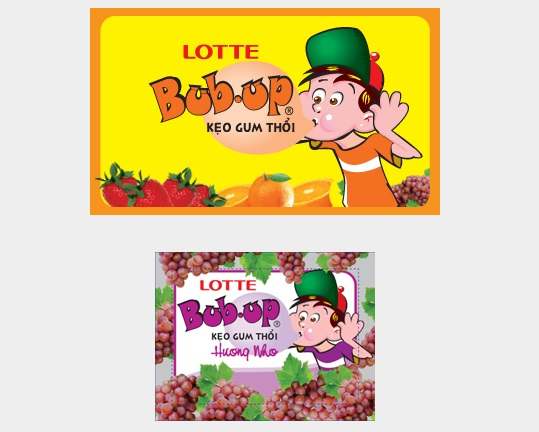 Lotte Bub Up Grapes Chewing Gum 3.5g