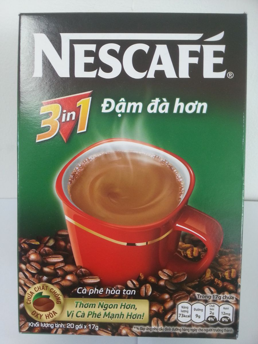 Nescafe 3 in 1 24 boxes x 20 sachets x 20gr
