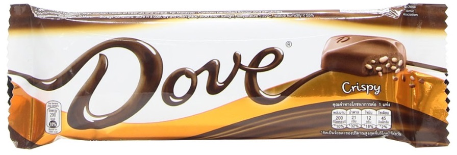 Chocolate Candy DOVE Crispy 38gr