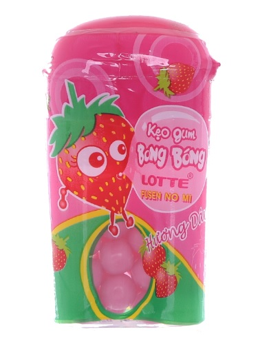 Lottle Fusen No Mi bubble gum Strawberry 15gr