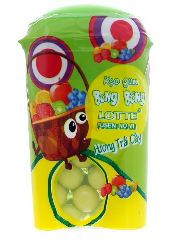Lottle Fusen No Mi Bubble Gum  Fruits15gr
