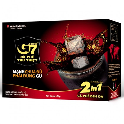 G7 instant coffee 2 in 1 24  boxes x 15 sachets x 16g