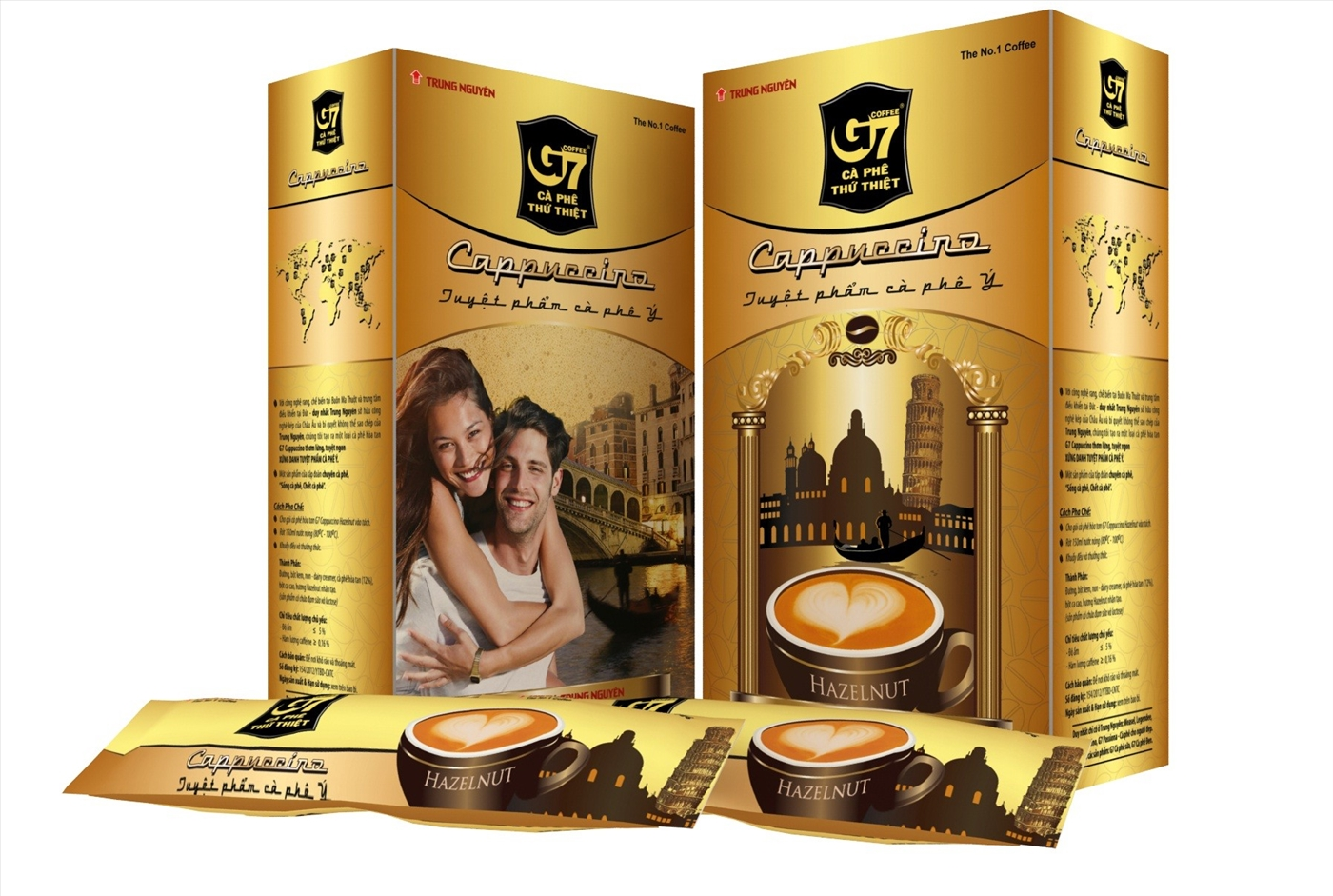 G7 Cappuccino Hazelnut 6 boxes x 12 sachets x 18g