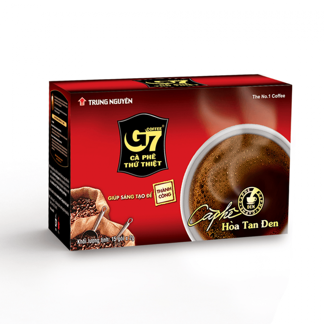 G7 black coffee 15 sachets x 2gr