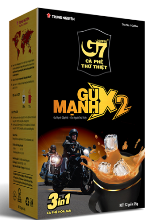 G7 X2 coffee 24 boxes x 12 sachets x 25g