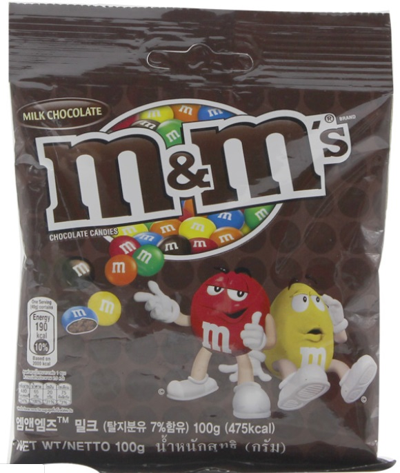 Chocolate Candy M&M Milk 100gr