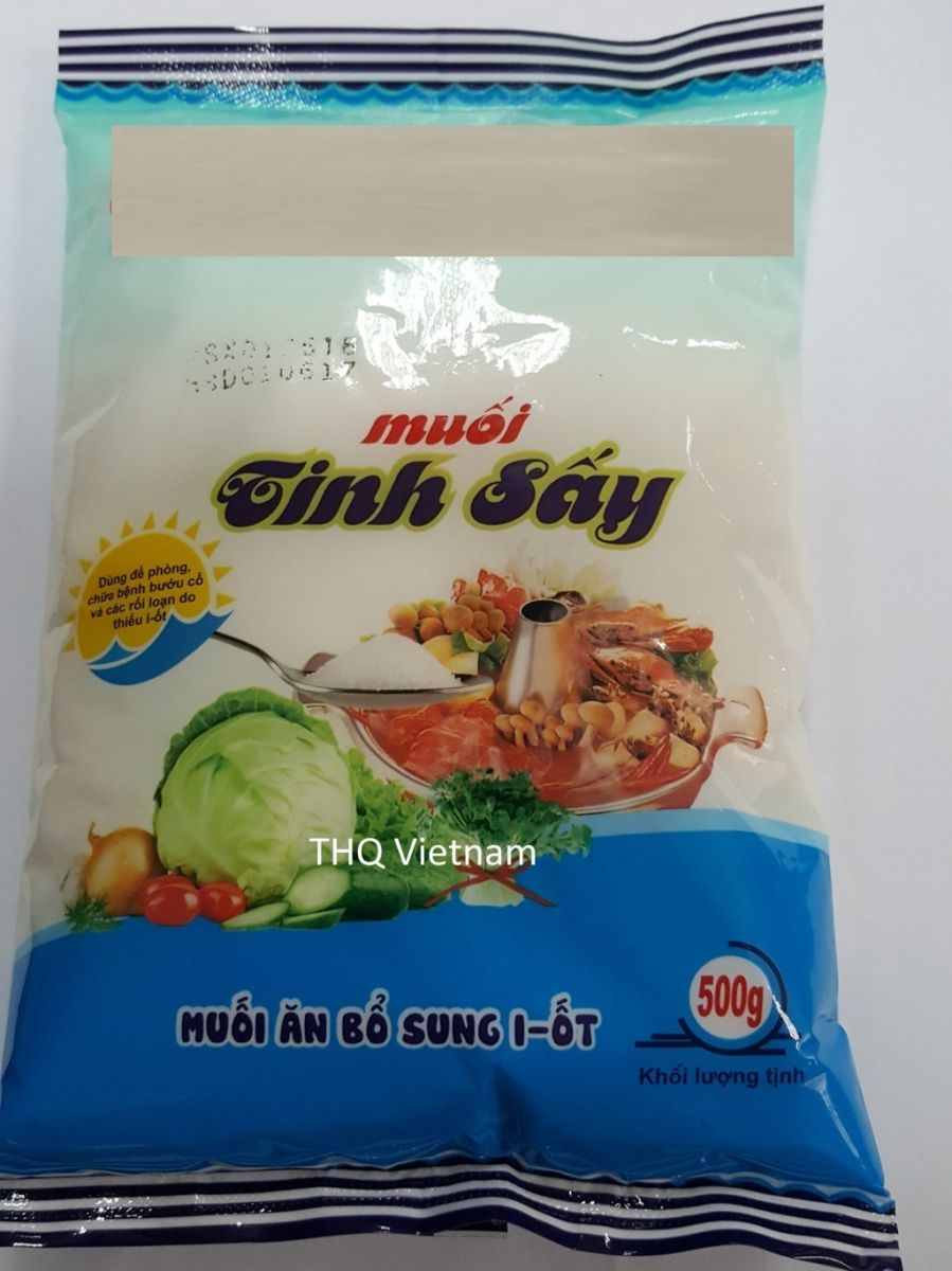 Lodized Dried Groud Salt 500gr x 50 packs