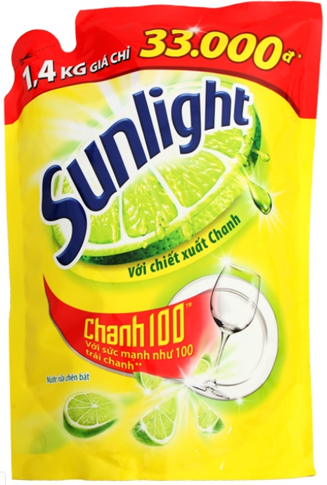 Sunlight dish washing Lemon 1,4 kg x 9 Bags