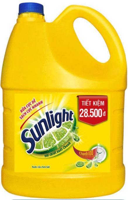 Sunlight Dishwashing Lemon 3,8kg x 3 Btls