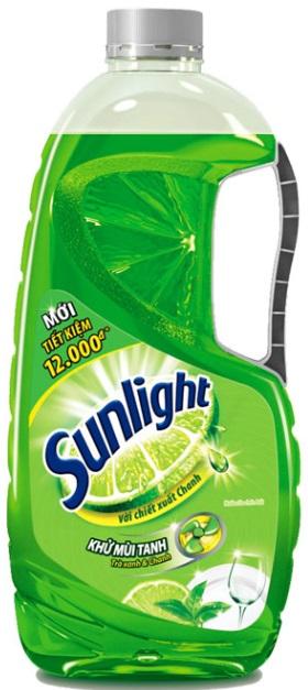 Sunlight dish washing green tea 1,5kg x 3 Btls
