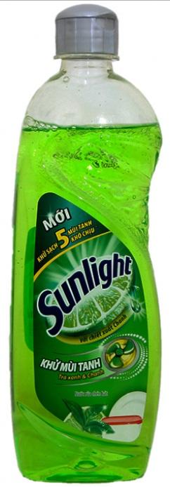 Sunlight dish washing green tea 400gr x 24 Btls