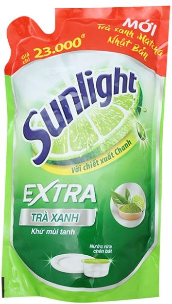 Sunlight dish washing green tea 750grx 18 Bags