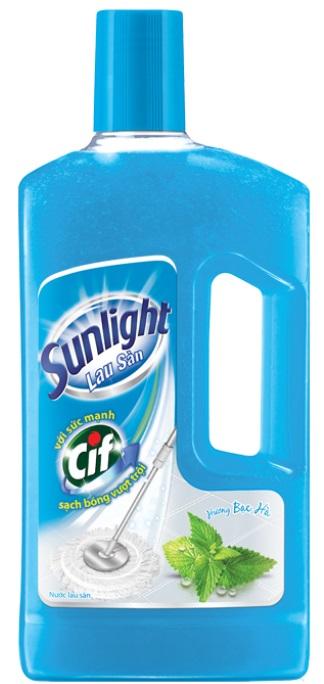 Sunlight Cif Floor Cleaner Mint Flavor 1Kg x 12 Btls