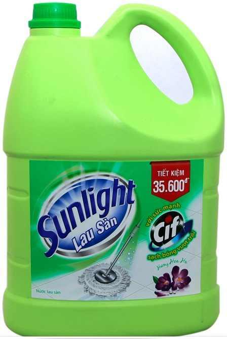 Sunlight Cif Floor Cleaner Flower Fragrance 3,8Kg x 3 Btls