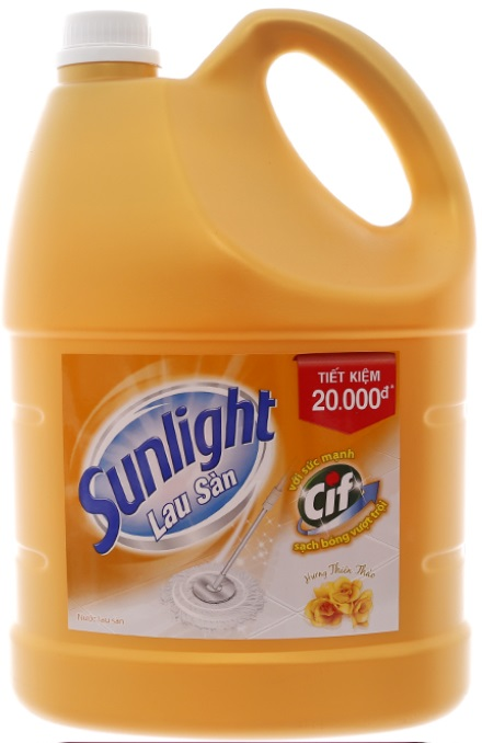 Sunlight Cif Floor Cleaner Floral Fragrance 3,8Kg x 3 Btls