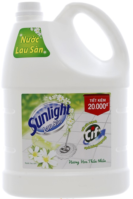 Sunlight Cif Floor Cleaner 3,8Kg x 3 Btls