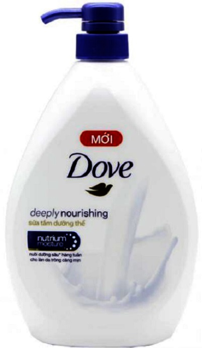 Dove Shower Gel Deeply Nourihing 900gr x 12 Btls