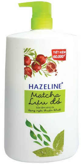 Hazeline Shower Gel Matcha Pomegranate 1,2kg x 6 Btls