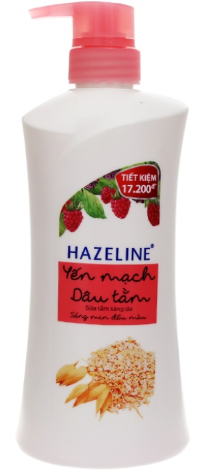 Hazeline Shower Gel Oat Strawberry 700gr x 8 Btls