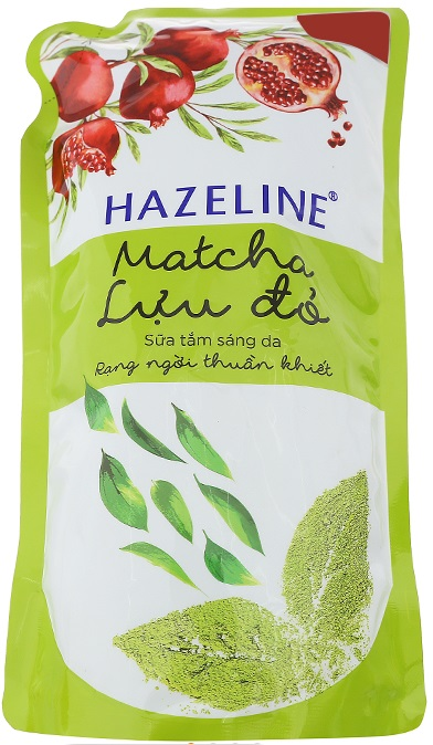 Hazeline Shower Gel Matcha Pomegranate 1kg x 12 Bags