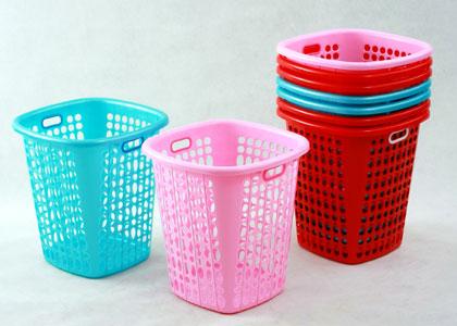 Trash plastic basket