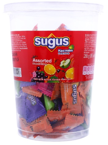 Sugus Fruit Candy Assorted Flavored Chews 285gr