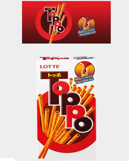 Lotte Biscuits Toppo With Chocolate 40gr