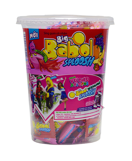 Big Babol chewing gum in jar from VIetnam