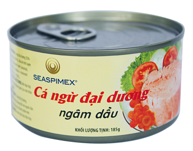 Tuna can in soybean oil 185gr