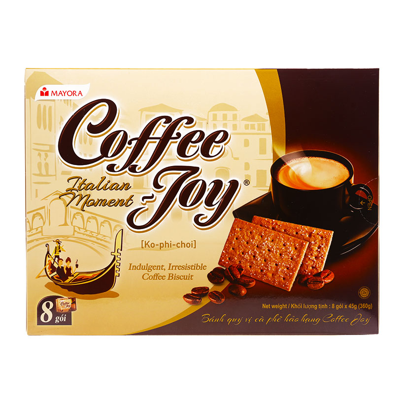 [THQ VIETNAM ] COFFEE JOY BISCUIT 8 BOXES X 450GR