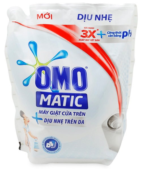 OMO Matic Skin Soft Liquid Detergent 2,4kg - Bags