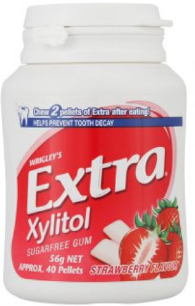 Wrigley's Doublemint Extra Strawberry Jar 56gr