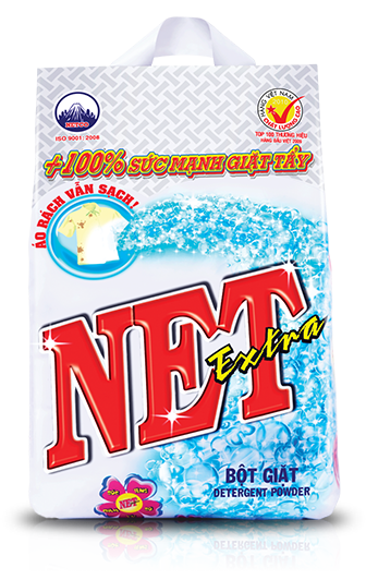 Net extra powder detergent 2.7kg x 4 packs
