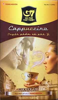 G7 Cappuccino Chocolate 6 boxes x 12 sachets x 18g