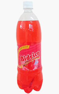 Bidrico Carbonated Strawberry flavor Soft drink 1,25L x 12 btls
